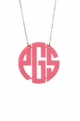 Moon and Lola Acrylic Monogrammed Necklace
